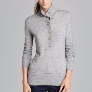 Tory Burch Gray Button Up Sweater size XL